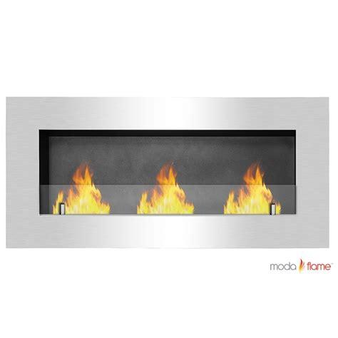 wall mounted ethanol fireplace moda hudson recessed wall mounted ethanol fireplace