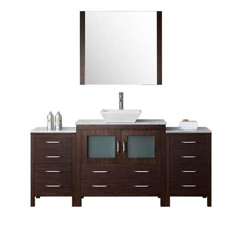 66 bathroom vanity virtu 66 quot single bathroom vanity set with mirror