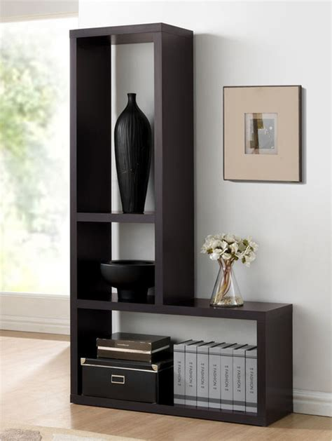 contemporary wall shelves baxton studio rupal brown modern display shelf