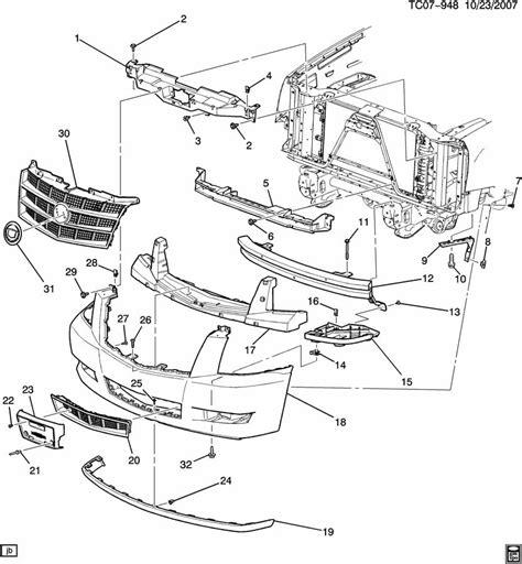 2007 tahoe front bumper diagram imageresizertool com