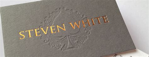 embossed business card ladict marketing and