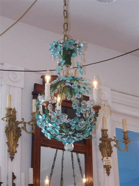 blue beaded chandelier venetian cobalt blue beaded chandelier circa 1840