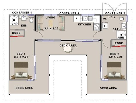 2 bedroom shipping container home design homestead look
