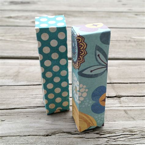 pretty craft paper tip make pretty lip balm packaging using spare card