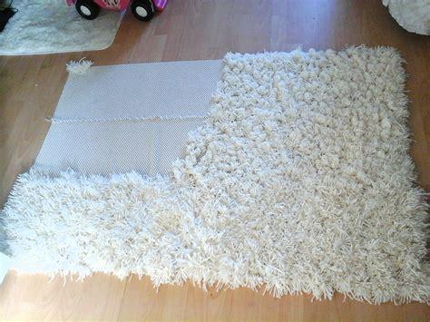 how to make a large area rug diy anti slip shaggy rug