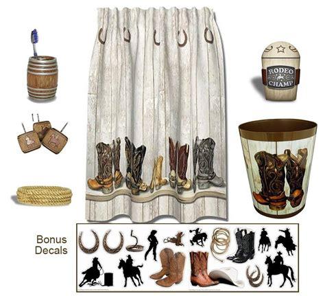 western themed bathroom accessories western bath set shower curtain cowboy theme bathroom