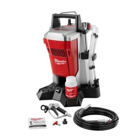 home depot paint machine milwaukee airless paint sprayer m4910 10 the home depot