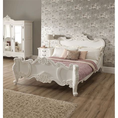 white shabby chic beds la rochelle shabby chic antique style bed shabby chic