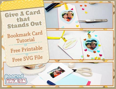 card techniques free personalized bookmark card tutorial free printable and