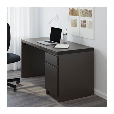 ikea black computer desk malm desk black brown ikea