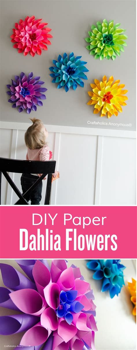 learn paper crafts 25 best ideas about diy wall flowers on paper