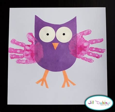 owl crafts for owl craft idea handprints k2 classroom crafts