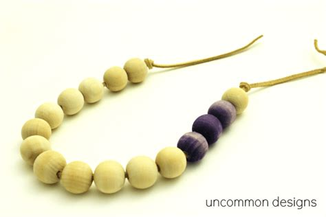 wooden bead necklace designs dyed wooden bead necklace uncommon designs