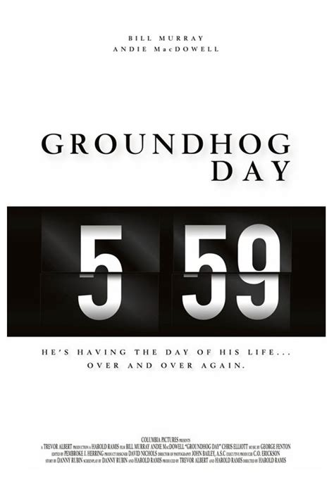 groundhog day poster alternative poster groundhog day and tv