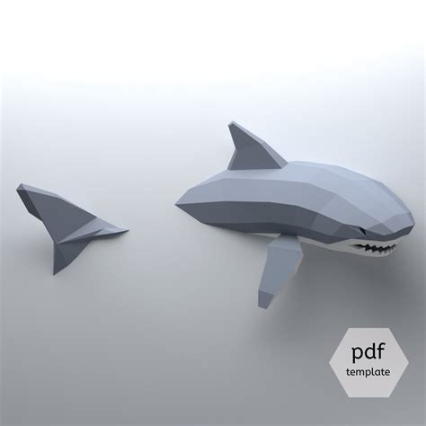 create your own 3d model low poly shark model create your own 3d papercraft shark