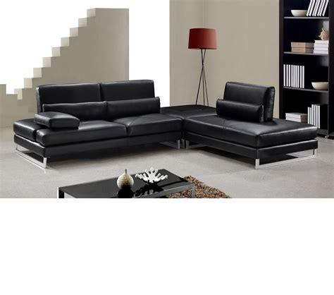 modern leather sofas and sectionals dreamfurniture modern black leather