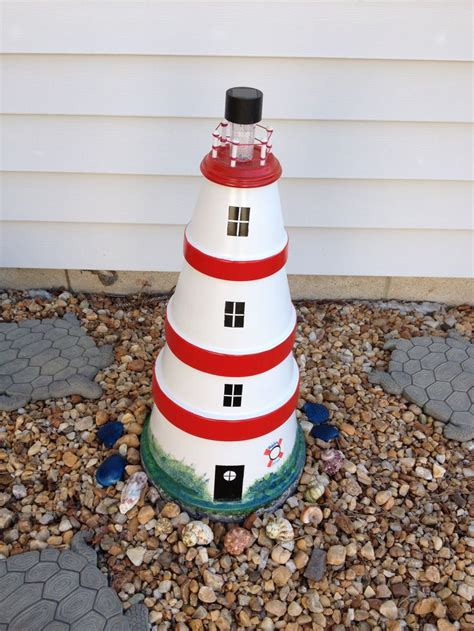 lighthouse craft project my clay pot lighthouse