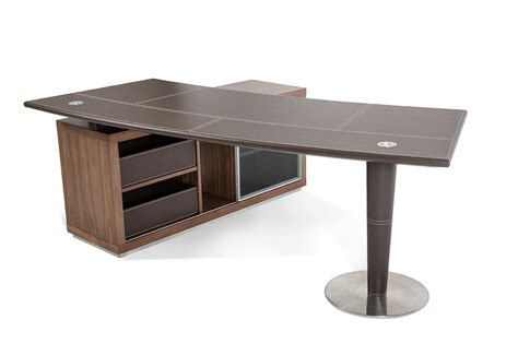 modern desks with storage lincoln modern office desk w side storage cabinet