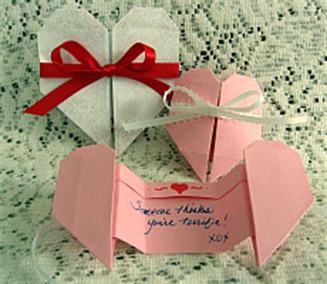 origami valentines card origami pull apart card