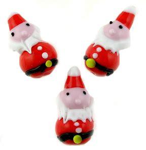 bead store santa lwork murano glass santa claus bead 30mm