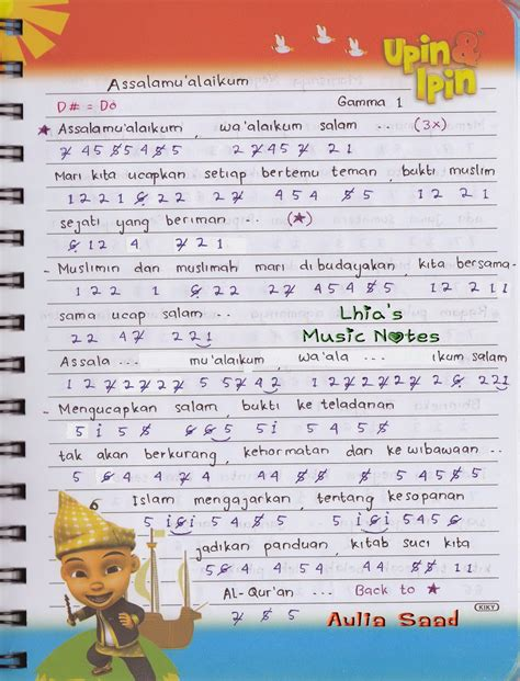 lirik lagu bukti not lagu band lhia s notes halaman 4