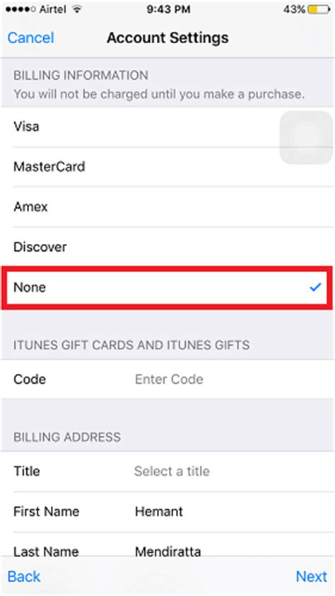 make a apple id without a credit card how to create us apple id from any region to apps