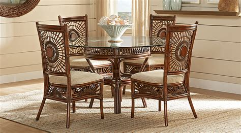 Dining Room Sets Bahama Island Brown Rattan 5 Pc Dining Set Dining Room