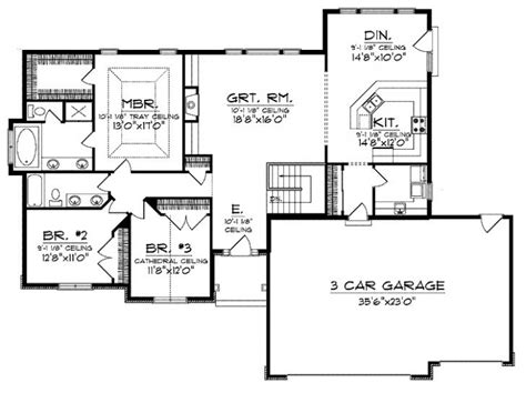 one story open house plans inspirational open floor plan ranch house designs new home plans design