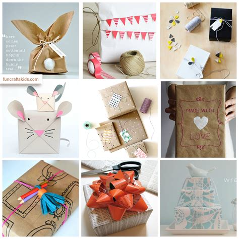 kid crafts for gifts gift wrap up crafts