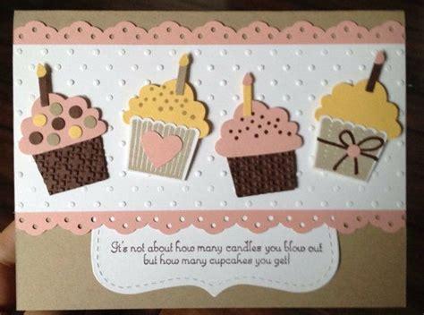 cupcake cards to make birthday cupcake card stin up paper cards