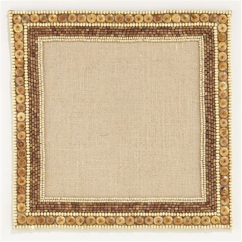 beaded placemats beaded square placemats set of 2 world market