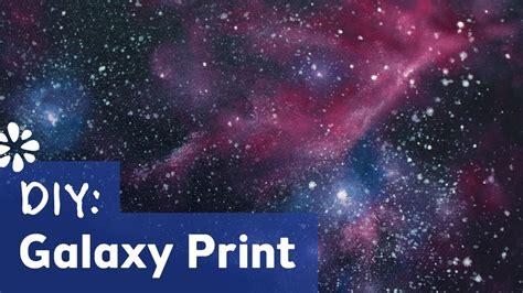 acrylic paint tutorial galaxy how to make galaxy print