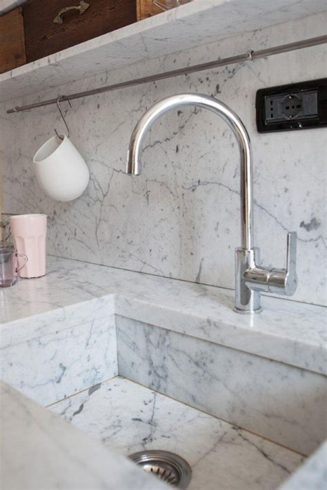marble kitchen sink intimate and cozy kitchens with carrara marble house