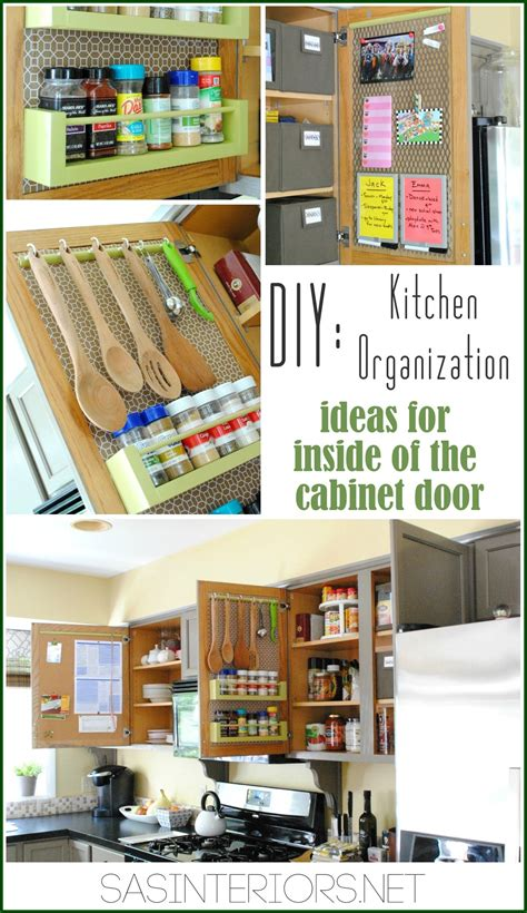 kitchen cabinet organization ideas kitchen organization ideas for the inside of the cabinet doors burger