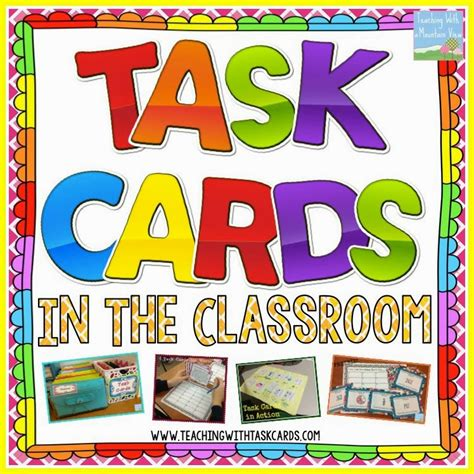 Task Card Corner Early Finisher Task Cards Beyond Busy