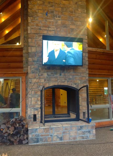 how to build an indoor fireplace custom see through outdoor indoor wood burning fireplace