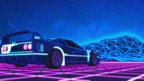 80s Car Wallpaper by F40 80s Synthwave Wallpaper By Nihilusdesigns On