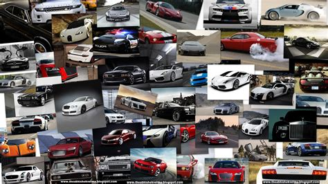 Car Collage Wallpaper by Gears Hd July 2013