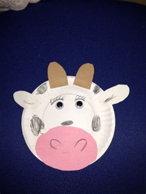 paper plate cow craft paper plate farm animals kleuterwerkjes craft for the