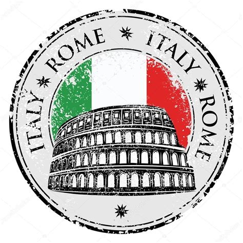 rubber st clipart grunge rubber st with colosseum and the word rome