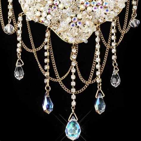 jewelry crystals gold ab light topaz jewelry set 6507