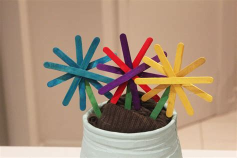 popsicle stick kid crafts popsicle stick flowers my kid craft