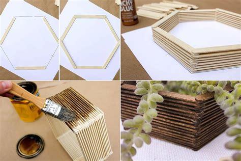 cara membuat cat painting sendiri cara membuat hiasan dinding buatan sendiri mini hexagonal