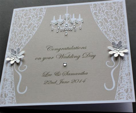 how to make handmade wedding cards handmade personalised vintage style congratulations