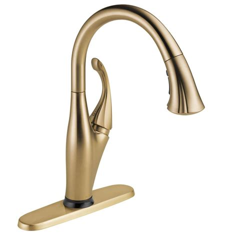 delta bronze kitchen faucets delta single handle pull sprayer kitchen faucet in chagne bronze with touch2o