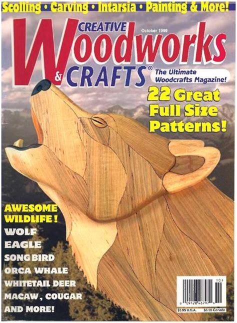 creative woodworking magazine creative woodworks crafts issue 66 1999 10