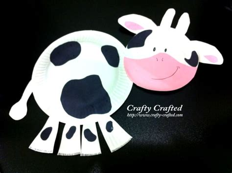paper plate cow craft crafty crafted crafts for children 187 cow