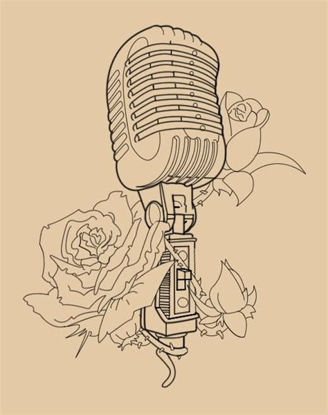 15 unique microphone tattoo designs