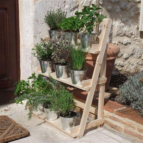 garden flower stands 3 tier wooden flower stand herb plant pot shelves garden