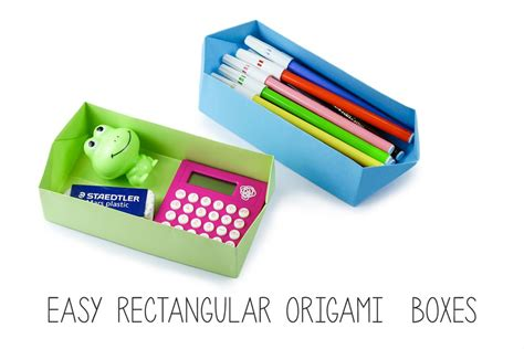 rectangular box origami easy rectangular origami box